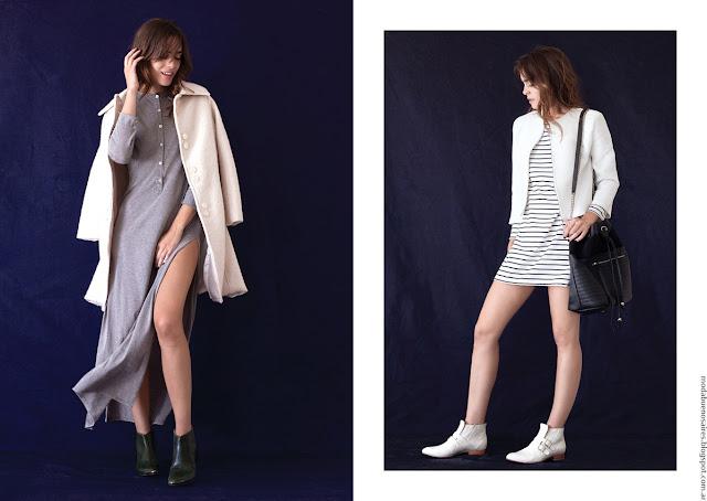 Vestidos de moda invierno 2016 ropa de mujer Pura Pampa.