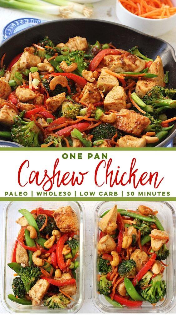 Paleo Cashew Chicken: Paleo, One Pan, 30 Minutes