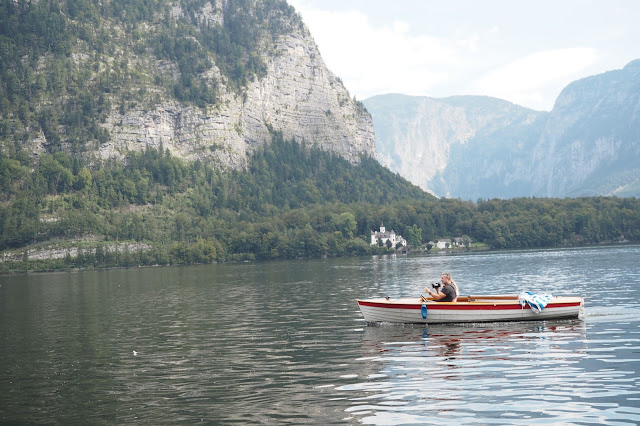 Boat on the Hallstatter See