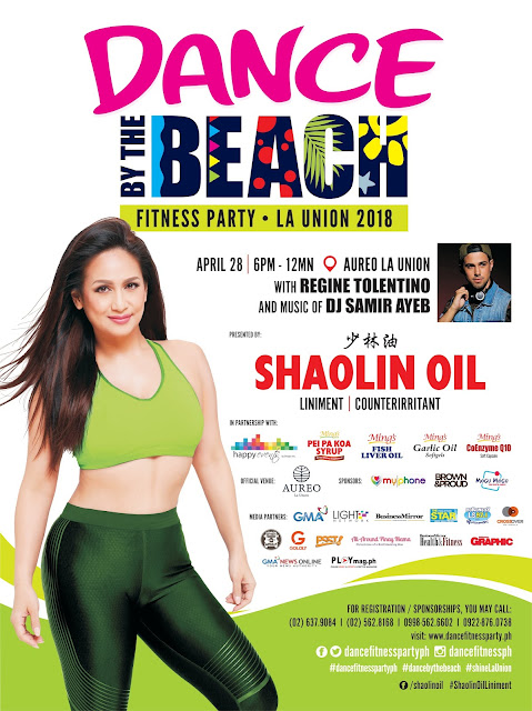 All-Around Pinay Mama, SJ Valdez, Dance Fitness Party PH, Regine Tolentino, Happy Events by Deegee, Dance by the Beach La Union 2018