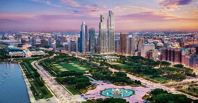 Parque Grant Park em Chicago