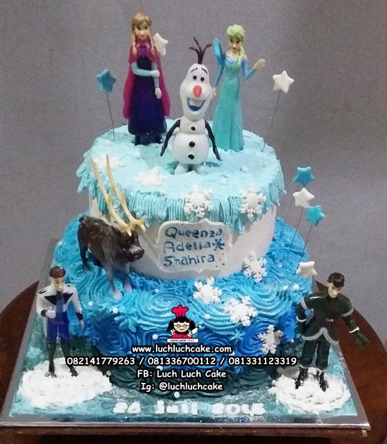 Kue Ulang Tahun Tingkat Tema Frozen
