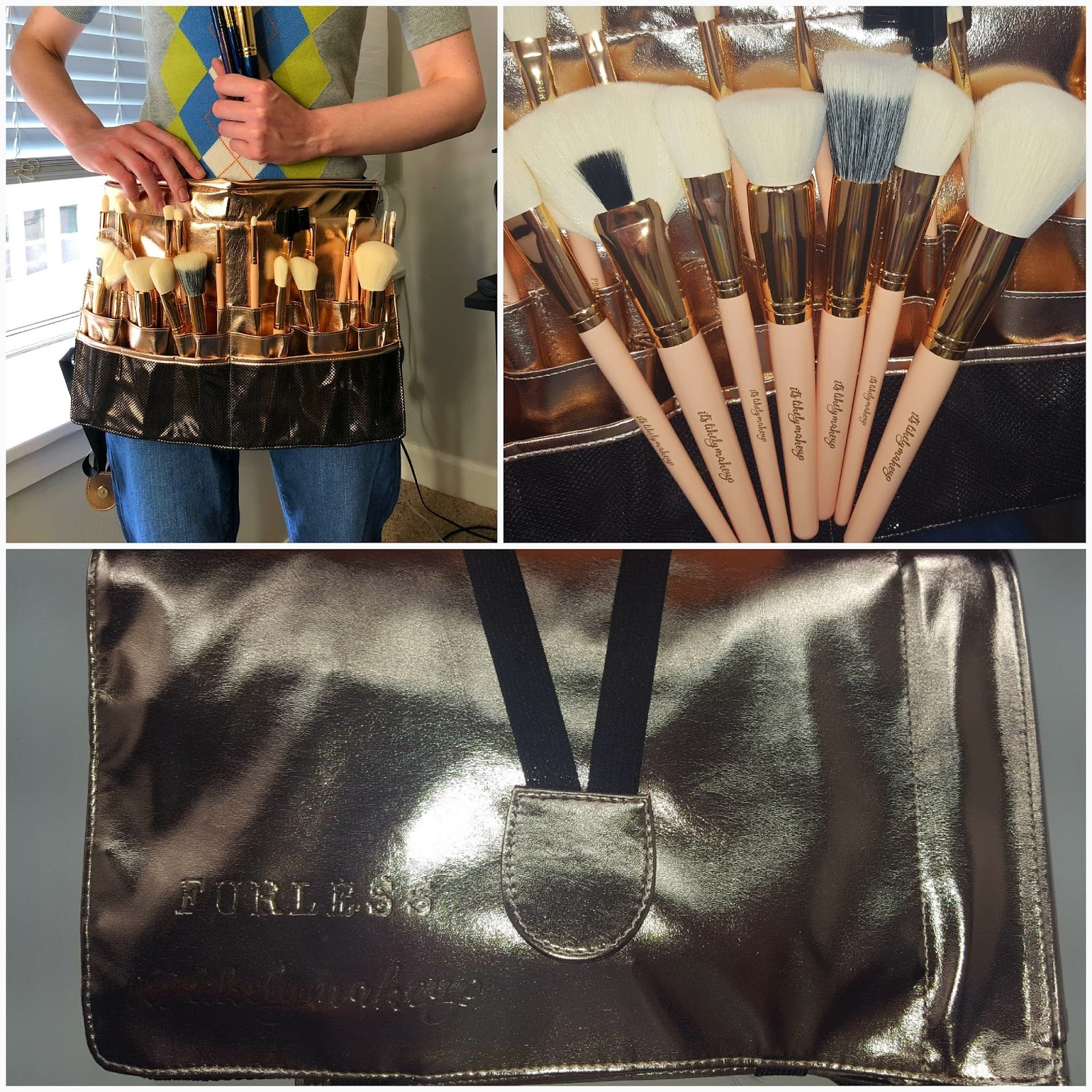 ade71a2121986 Everything You Need to Know About the Itslikelymakeup   Furless Rose Gold  Must Have Pro Makeup Brush Set