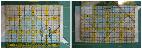 Trimming flying geese | DevotedQuilter.blogspot.com