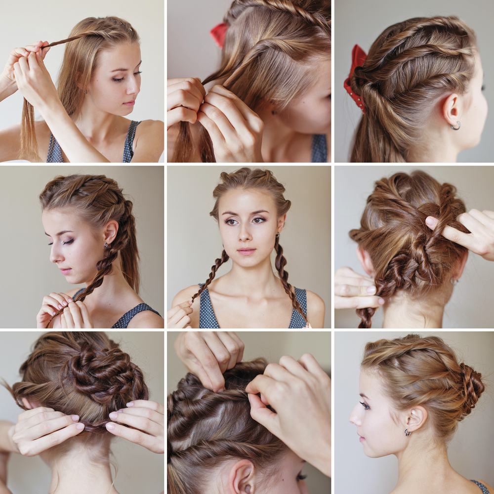 fancy braided roll hairstyle ~ entertainment news, photos & videos