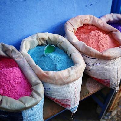 Polvos de colores en Chauen