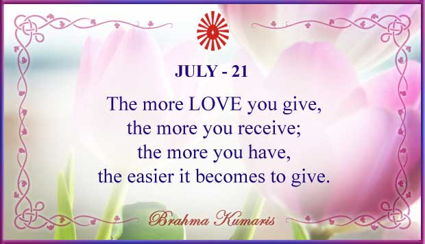 Thought For The Day July 21