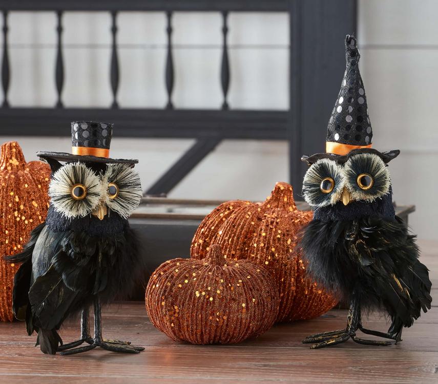 K & K INTERIORS Owl Statues