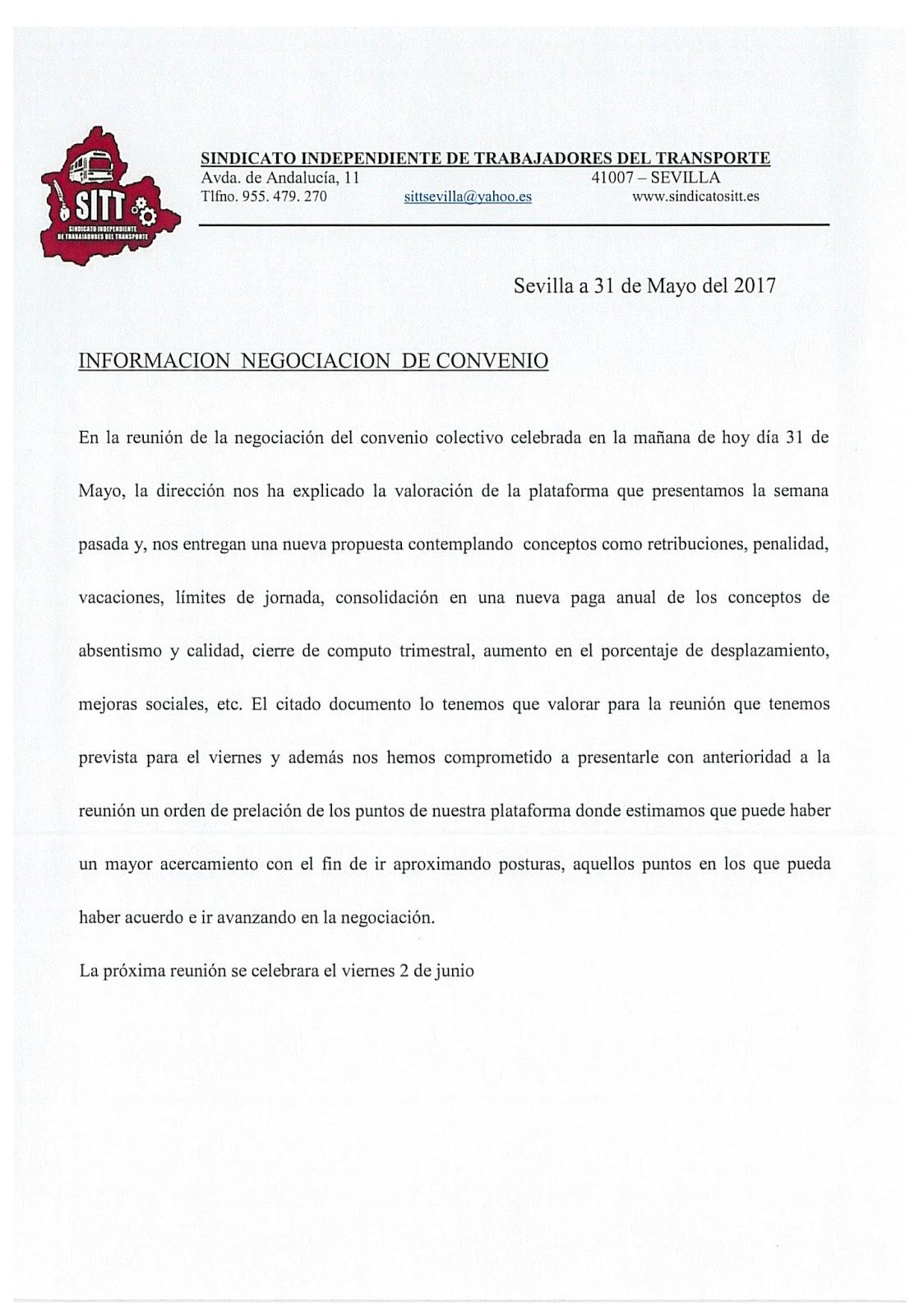 Sitt 7 reuni n de negociaci n convenio for Fuera de convenio 2017