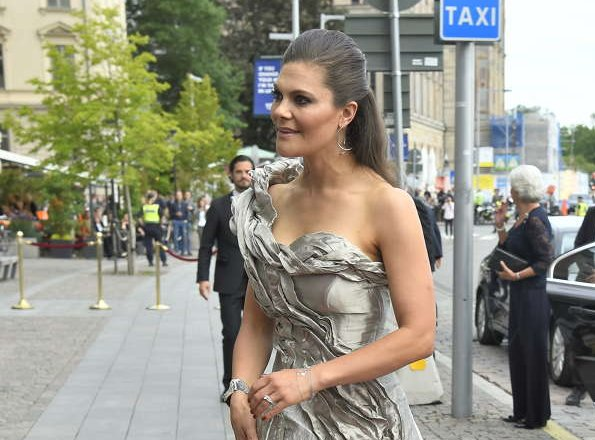 Crown Princess Victoria wore Diana Orving dress, Saint Laurent sandals, Oasis clutch, Madeleine wore Ida Sjostedt dress, Marchesa sandals