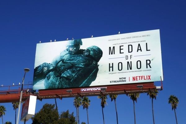 Medal of Honor documentary series billboard
