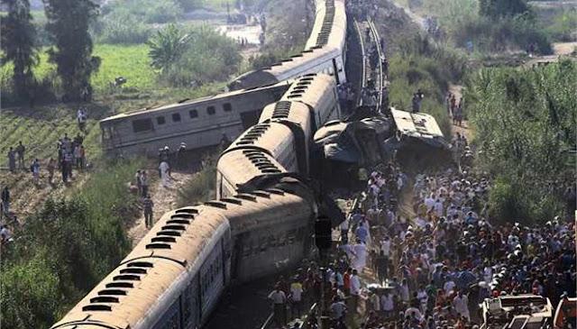 Αιματηρή σύγκρουση τρένων στην Αίγυπτο (βίντεο)