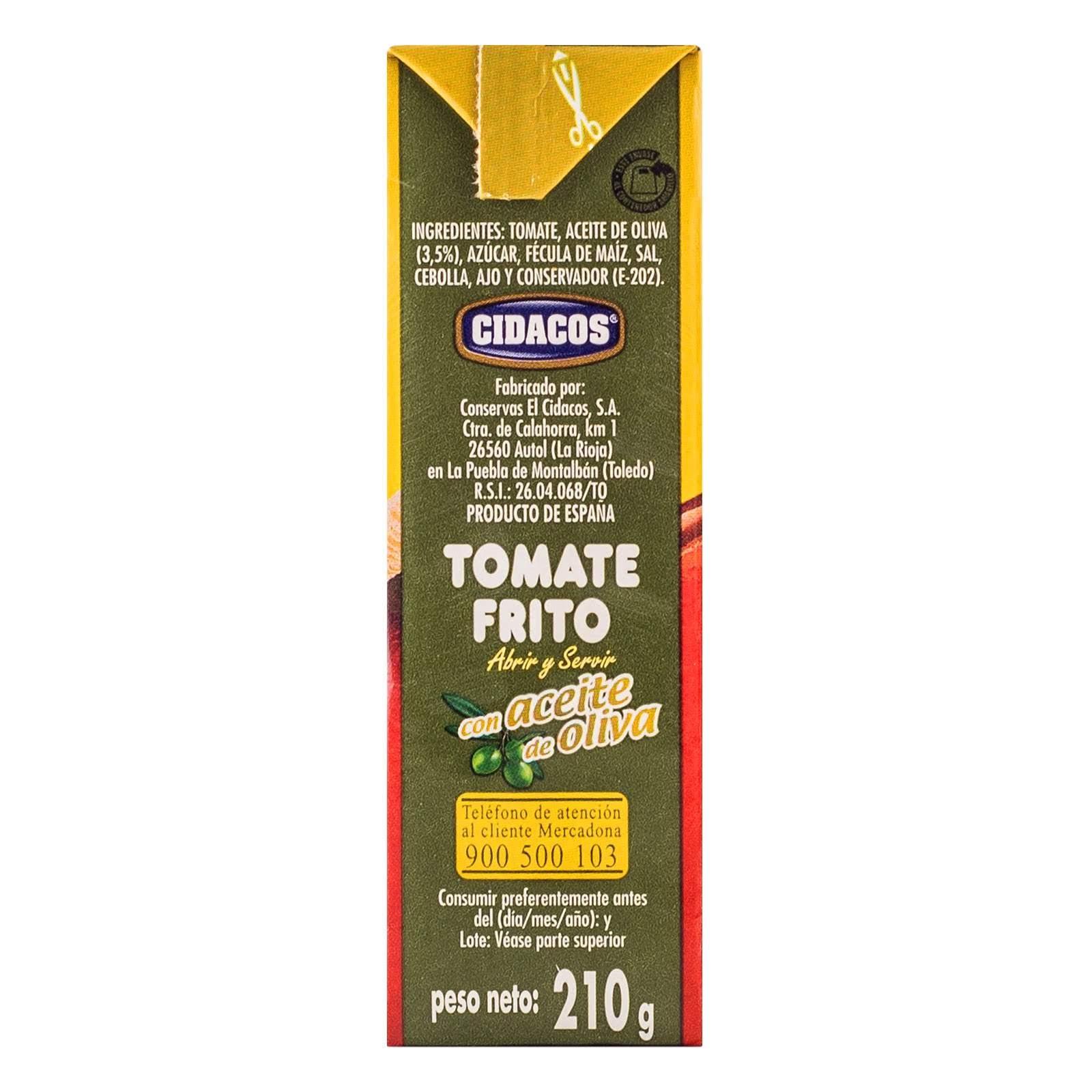 Tomate frito con aceite de oliva Hacendado