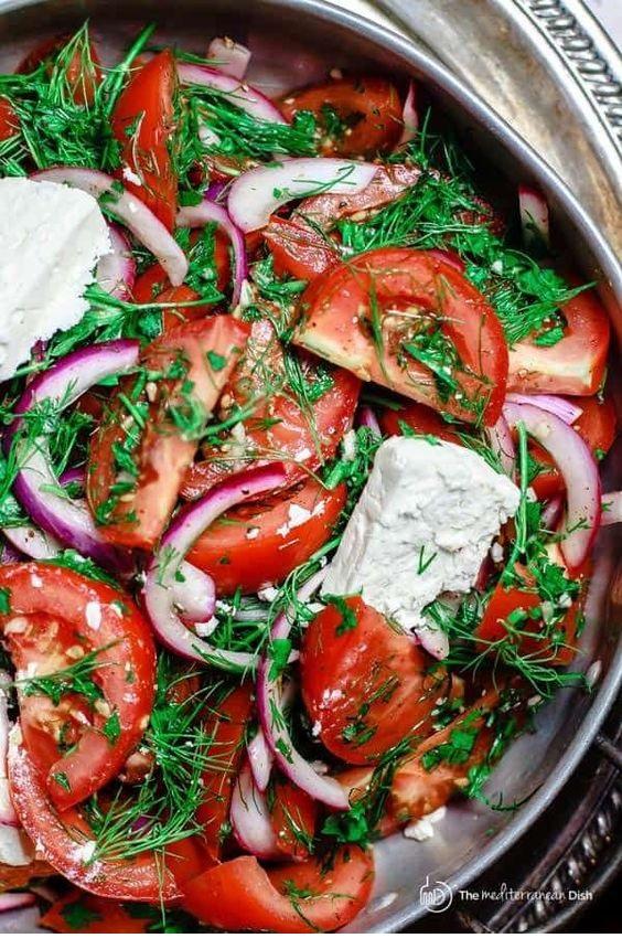 Mediterranean Fresh Herbs And Tomato Salad