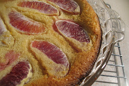 Almond Clafouti with Blood Orange