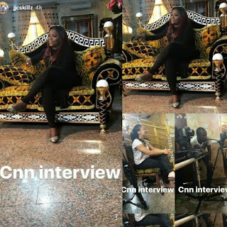 Funke akindele welcomes CNN crew to her house