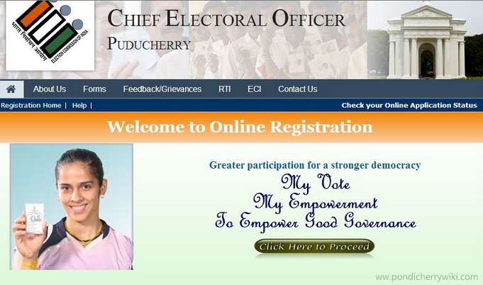 online voters registration