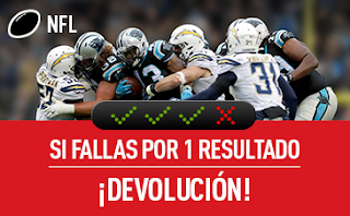 "sportium NFL: Combinada ""con seguro"" 2-5 noviembre"