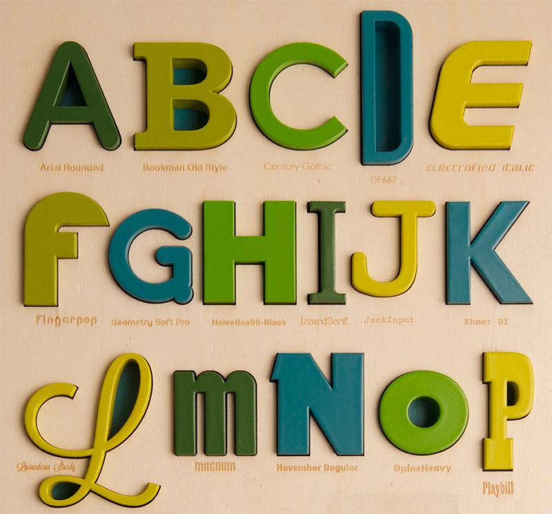 font puzzles