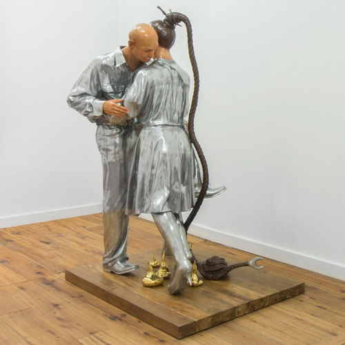 Tinuku Entang Wiharso presents Golden Sweat sculpture in solo exhibition at Marc Straus gallery