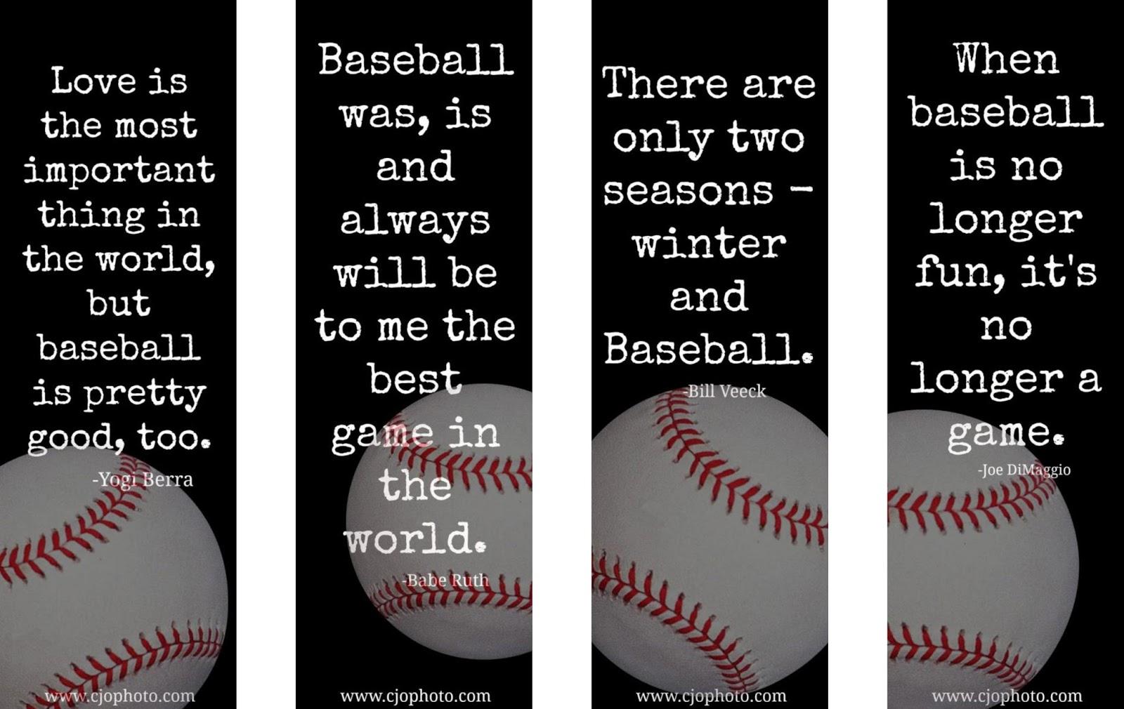 Cjo Photo Printable Bookmarks Baseball Quotes