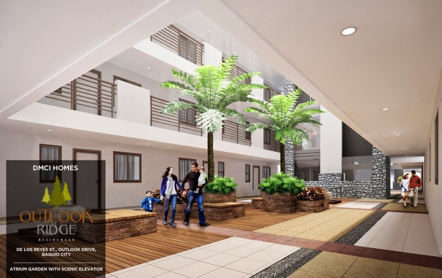 Outlook Ridge Residences ATRIUM GARDEN WITH SCENIC ELEVATOR