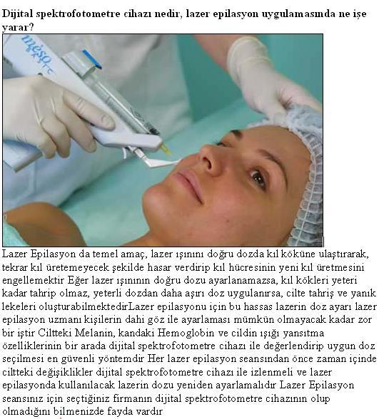 lazer epilasyon bilgileri