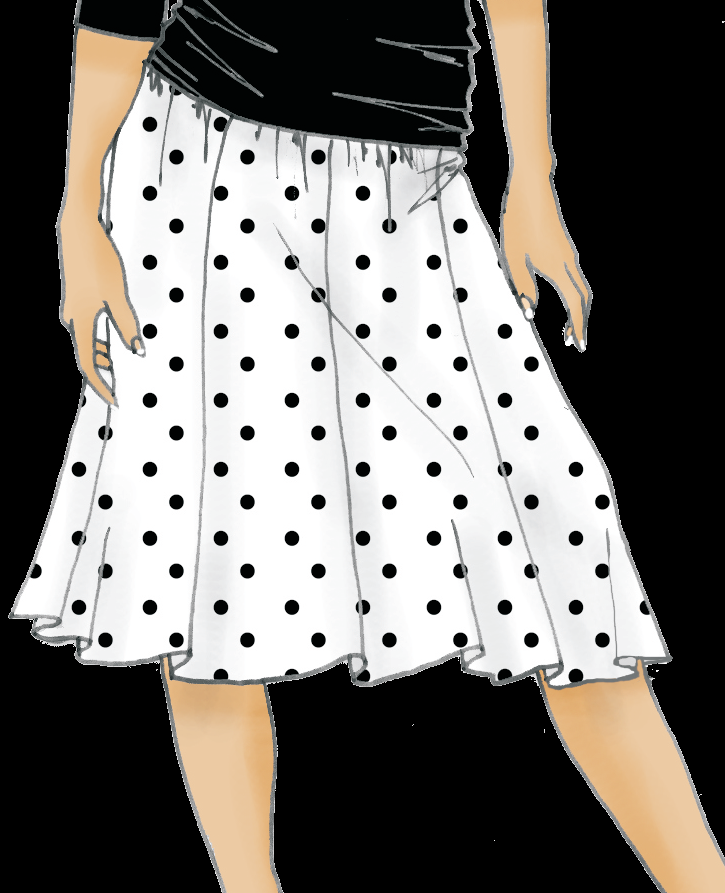 92e62bb44 Como hacer una falda de nesgas o tableada