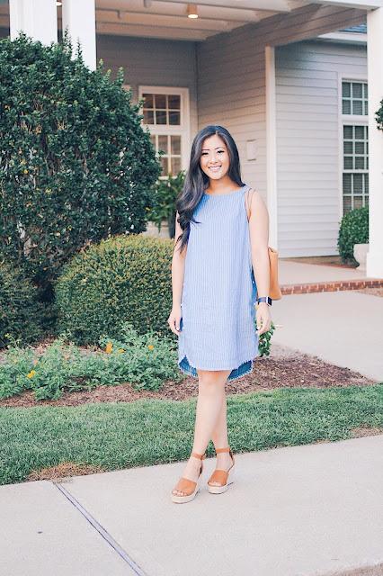 Jadoregrace.com // Casual Blue Dress with PinkBlush