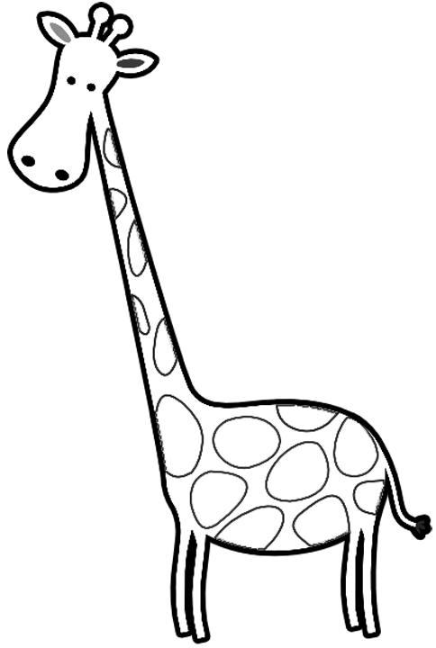 Cartoon giraffe coloring pages cartoon coloring pages for Coloring page giraffe