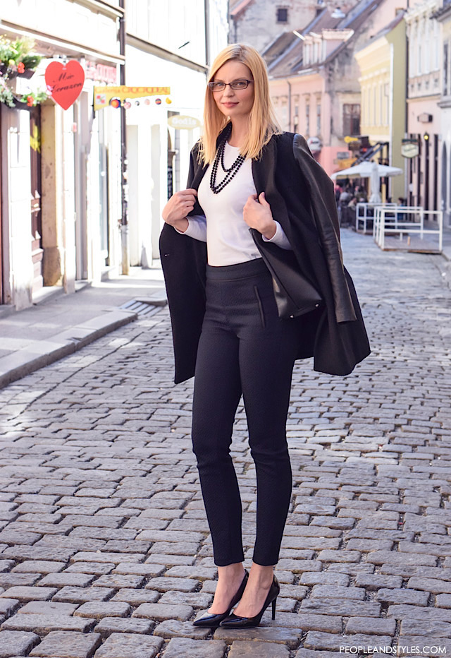 Simple, elegant black and white work look, Edita Misirić