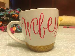 Handmade glitter mug