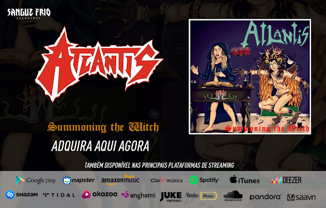 """Atlantis: Primeiro EP, """"Summoning The Witch"""", já pode ser encontrado nas principais plataformas de streaming"""