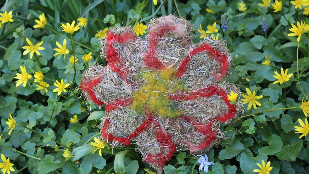 Lustige Blumenstecker Aus Heu Für Gartendeko Basteln
