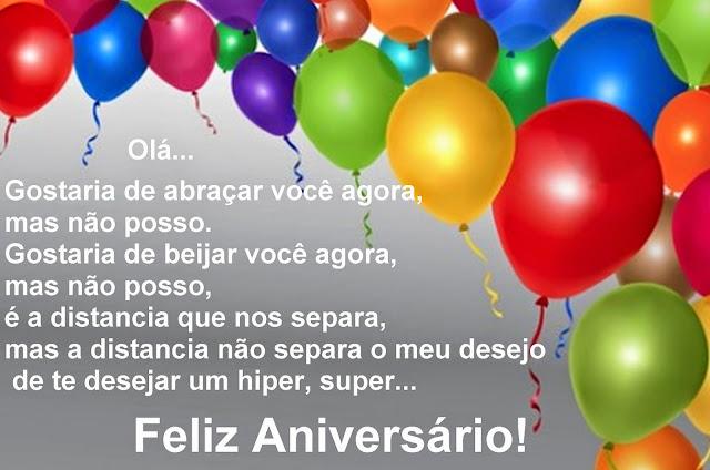 Mensagem de um super feliz aniversário!