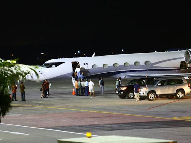 Penampakan Obama Saat Tiba di Bali