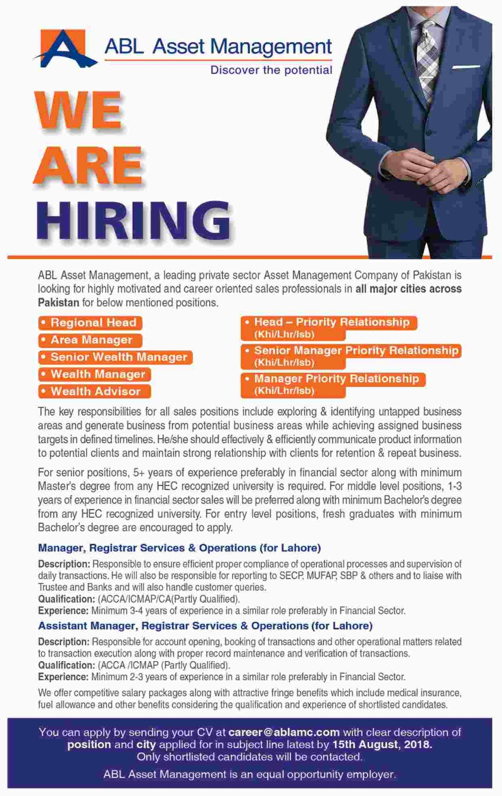 Allied Bank Limited Jobs August 2018