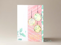 Christmas Card with Triple Bauble from IndigoBlu by Sweet Kobylkin