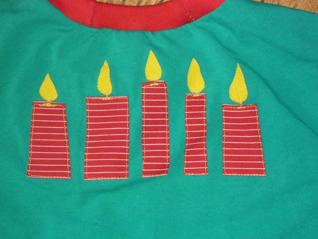 Kerzen zum Geburtstag auf Shirt