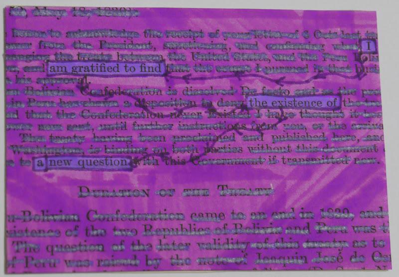 JBolech Swaps: Altered Text ATC Swap #6----Purple