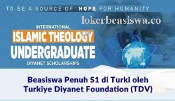 Beasiswa S1 Punuh Turkiye Diyanet Foundation 2018 Turki