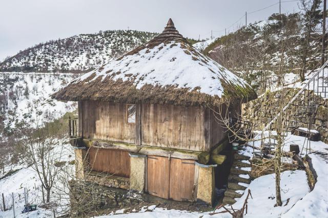 Neve no interior de Galicia