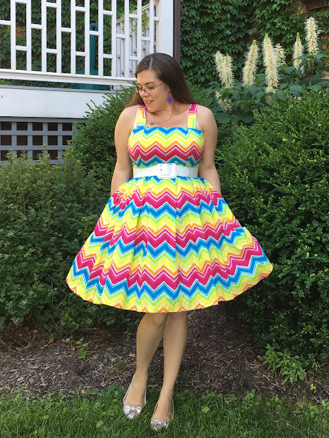 hearts and found rainbow Lana dress