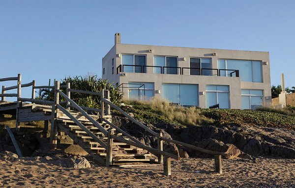 Die schönsten Strandhäuser Sehr modernes Strandhaus am