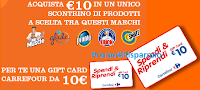 Logo Spendi & Riprendi una card da 10€ Carrefour