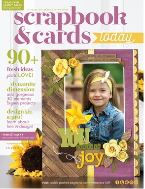 Scrapbook and Cards Today Fall Issue Cover