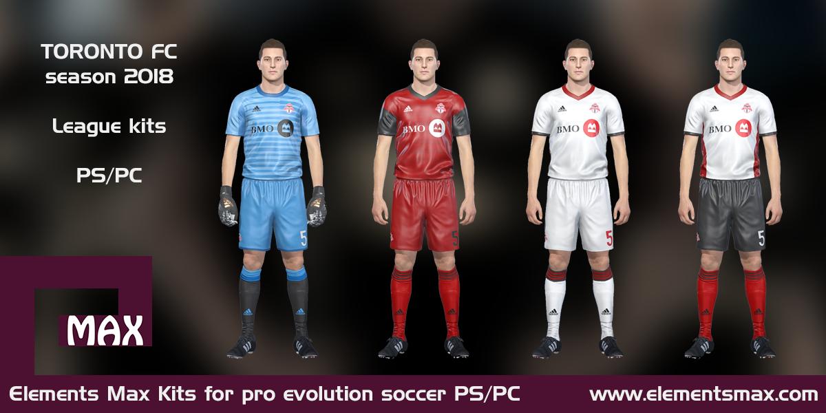 100% authentic 0b685 1ec5d Elements MAX Kits: Toronto FC PES Kits 2018