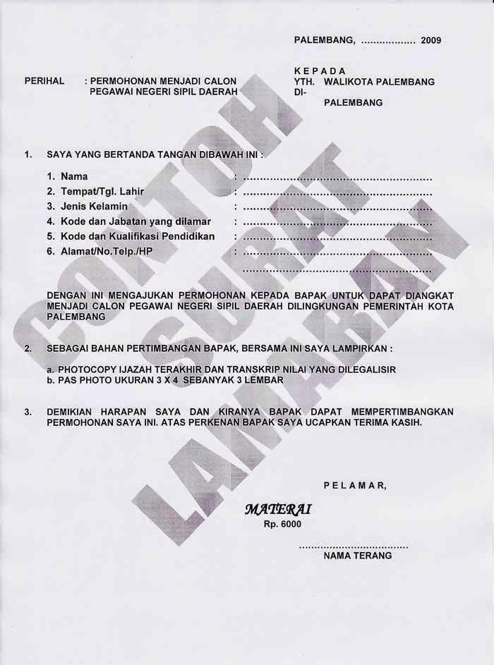 Contoh Surat Lamaran Kerja Aceh Indo Alliance