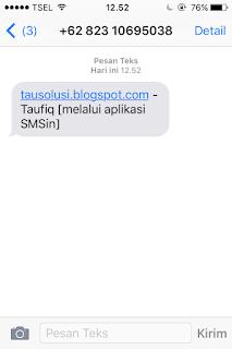 Tutorial Kirim SMS Gratis Tanpa Pulsa ke Semua Operator 5