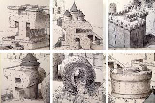 El nivel de detalle de las ilustraciones de Ortego es impresionante, como en esta de Metrópoli